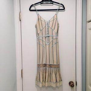 Tracy Reese Ivory Vintage Tuxedo Dress Size 6